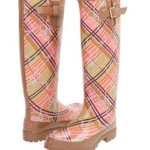 Sperry top-sider pink Pelican Too rain boots